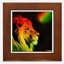 Rasta Lion Framed Tile
