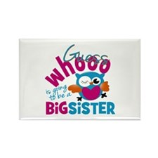 Big Sister - Owl Rectangle Magnet