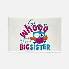 Big Sister - Owl Rectangle Magnet