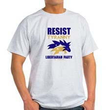 Resist Tyranny Yellow T-Shirt