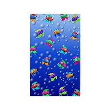 Swimming Tropical Fish 3'x5' Area Rug