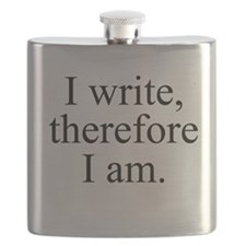 I write, therefore I am. Flask