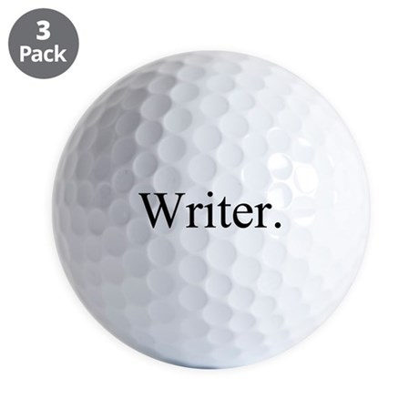Writer. Black Golf Ball