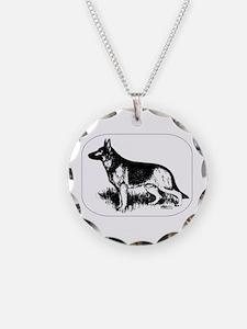 German Shepherd Profile Necklace