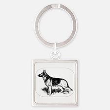 German Shepherd Profile Keychains