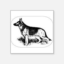 German Shepherd Profile Sticker