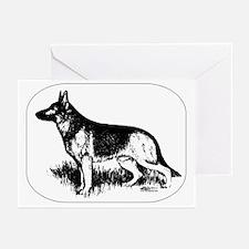 German Shepherd Profile Greeting Cards (Pk of 10)
