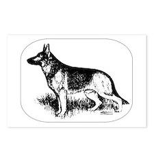 German Shepherd Profile Postcards (Package of 8)