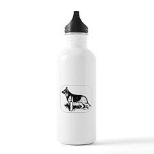 German Shepherd Profile Water Bottle