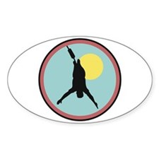 Bungee Jumping Circle Design Oval Decal