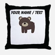 Cartoon Bear Throw Pillow