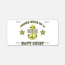 chief wife.png Aluminum License Plate
