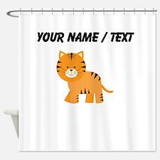 Cartoon Tiger Shower Curtain