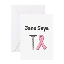 Jane Says Screw Cancer! Change to Your Name Greeti