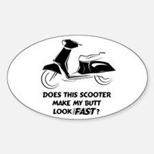 Fast Butt (Black) Oval Decal