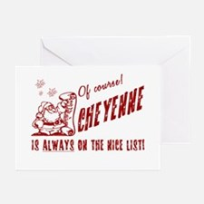 Nice List Cheyenne Christmas Greeting Cards (Packa