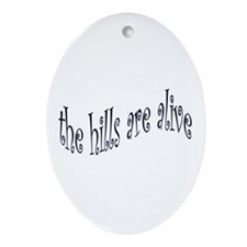 Cute Sound music Oval Ornament