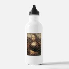 Mona Lisa Halftone Water Bottle