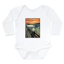 The Scream Long Sleeve Infant Bodysuit