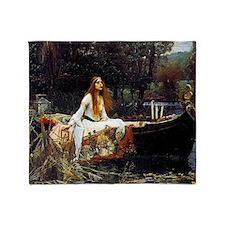 The Lady Of Shalott Throw Blanket
