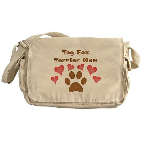 Toy Fox Terrier Mom Messenger Bag