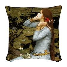 Waterhouse Ophelia Woven Throw Pillow