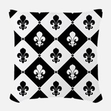 fleur-de-lis-pattern2_b.png Woven Throw Pillow