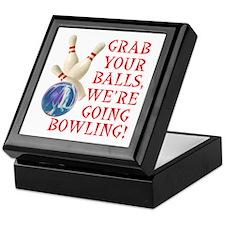 Grab Your Balls Bowling Keepsake Box