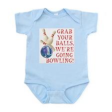Grab Your Balls Bowling Infant Bodysuit