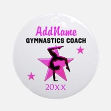 SUPER GYMNAST COACH Ornament (Round)