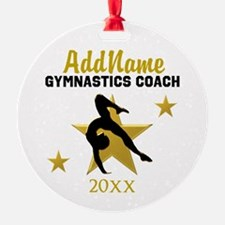 BEST GYMNAST COACH Ornament