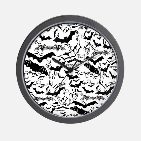 Bat Collage LG Wall Clock