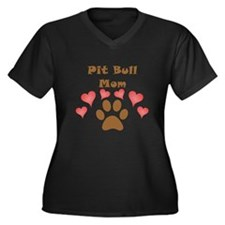 Pit Bull Mom Plus Size T-Shirt