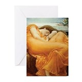 Flaming june Greeting Cards (10 Pack)