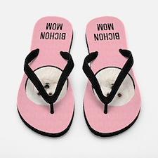 Bichon Frise Mom Flip Flops