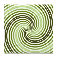 Spiral (green) Tile Coaster