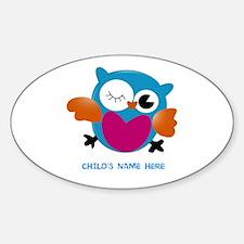 Editable Owl Print Decal