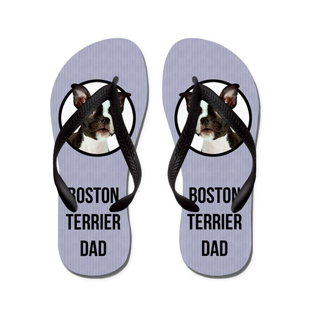 Boston Terrier Dad Flip Flops By Cafepets