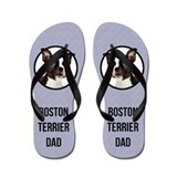 Boston terrier flip flops Flip Flops