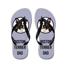 Boston Terrier Dad Flip Flops