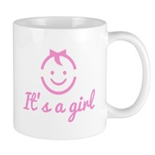 it's a girl design with cute face icon Mug