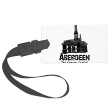 Aberdeen - the Energy Capital (black) Luggage Tag