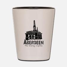 Aberdeen - the Energy Capital (black) Shot Glass