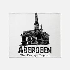 Aberdeen - the Energy Capital (black) Throw Blanke