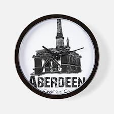 Aberdeen - the Energy Capital (black) Wall Clock