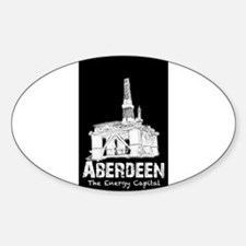 Aberdeen - the Energy Capital (white) Decal