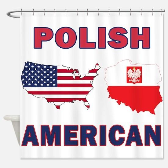 Polish American Pride Map Shower Curtain