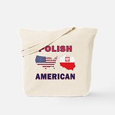 Polish American Pride Map Tote Bag