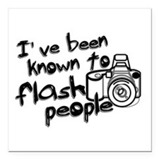 "Flash People Square Car Magnet 3"" x 3"""