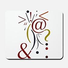 Punctuation Art Mousepad